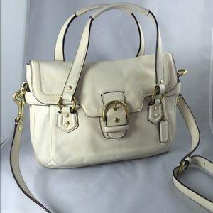 Coach leather antique white tote/shoulder bag